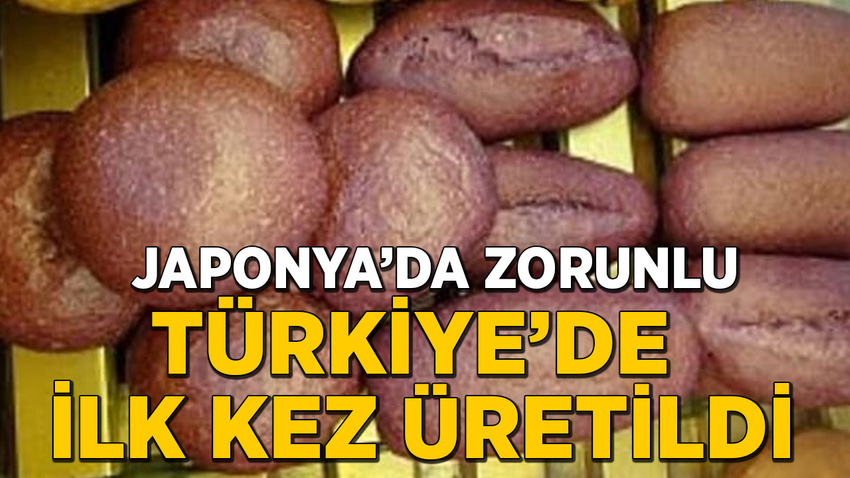 Japonya'da zorunlu olan mor ekmek Türkiye'de de üretilmeye başlandı