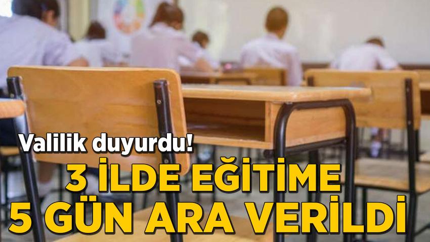 Şırnak, Şanlıurfa ve Mardin'in sınır ilçelerinde eğitime 5 gün ara