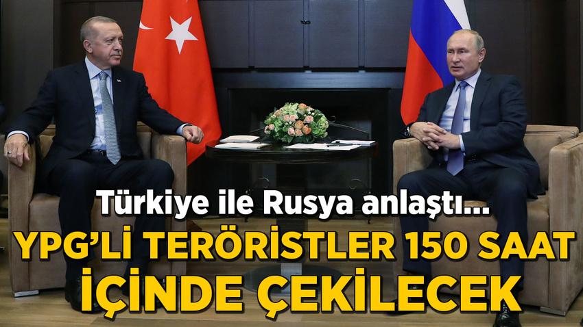 Türkiye ile Rusya  arasında güvenli bölge mutabakatı