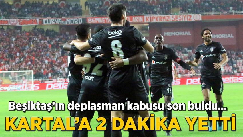 Beşiktaş 2 dakikada 3 puanı aldı
