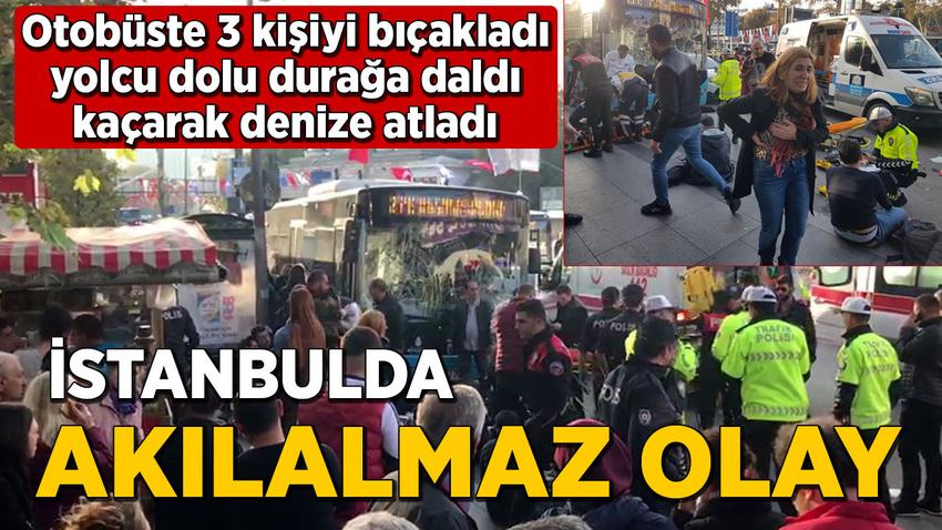 Beşiktaş'ta otobüs durağa daldı: Yaralılar var