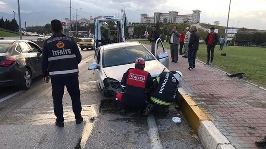 Denizli'de zincirleme trafik kazası: 1 ölü, 2 yaralı