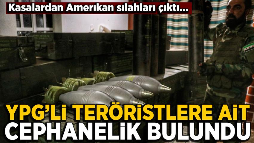 Resulayn'da YPG'li teröristlerin cephanesi ele geçirildi