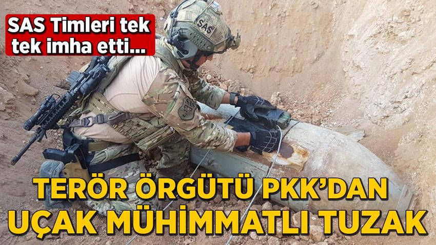 Terör örgütü PKK'dan uçak mühimmatları ile tuzak