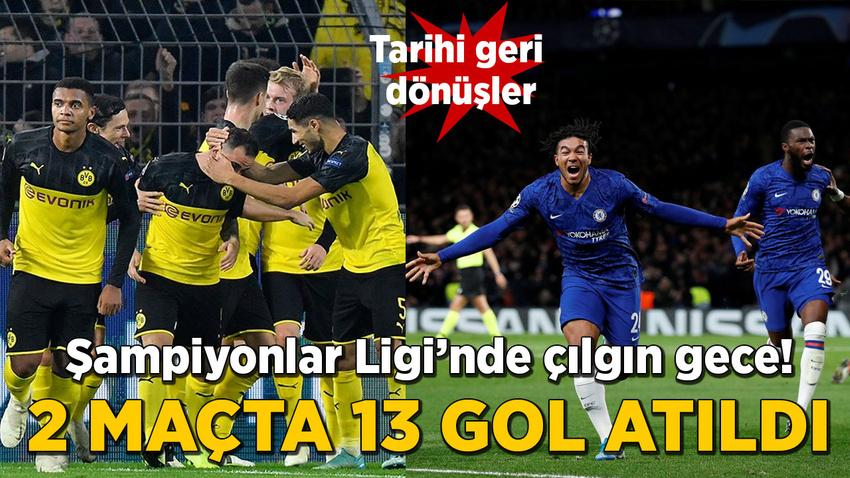 Şampiyonlar Ligi'nde çılgın gece! 2 maçta 13 gol atıldı