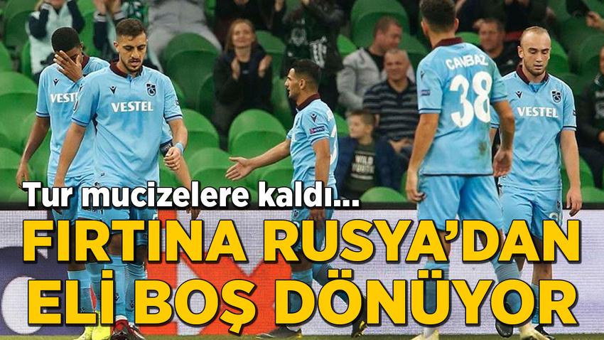 Eksik Trabzonspor Rusya'dan eli boş döndü