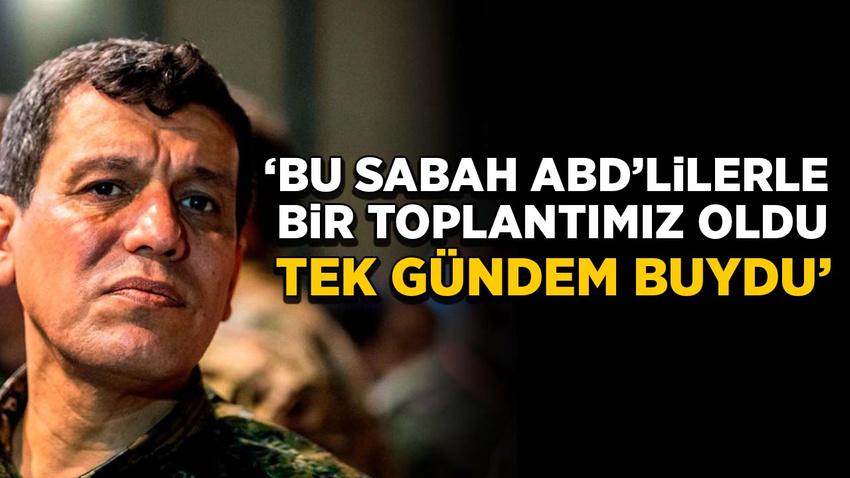 Kobani: Bu sabah ABD'lilerle bir toplantımız oldu tek gündem buydu...