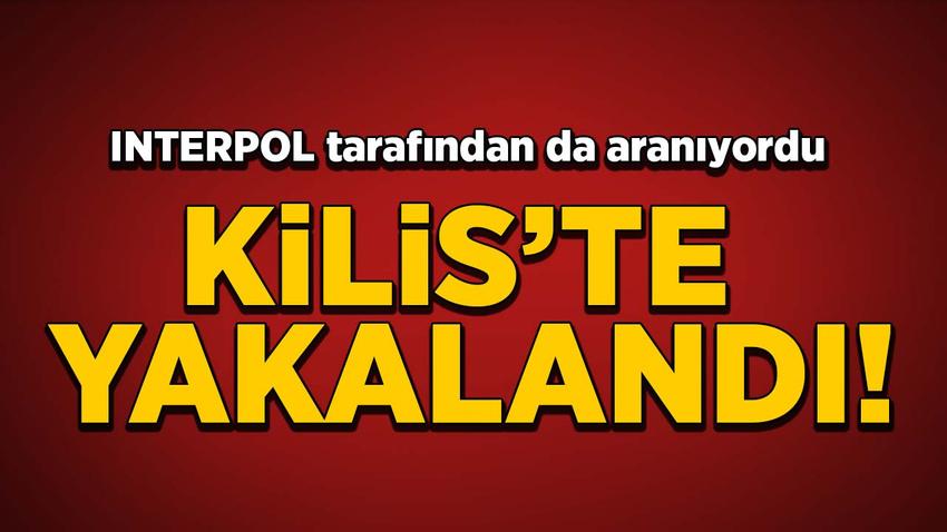 INTERPOL tarafından da aranıyordu Kilis'te yakalandı