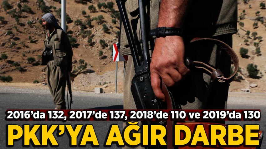PKK'lı üst düzey teröristlere ağır darbe