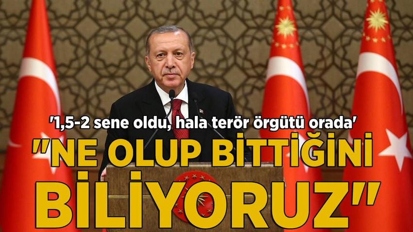 Erdoğan: Ne olup bittiğini biliyoruz
