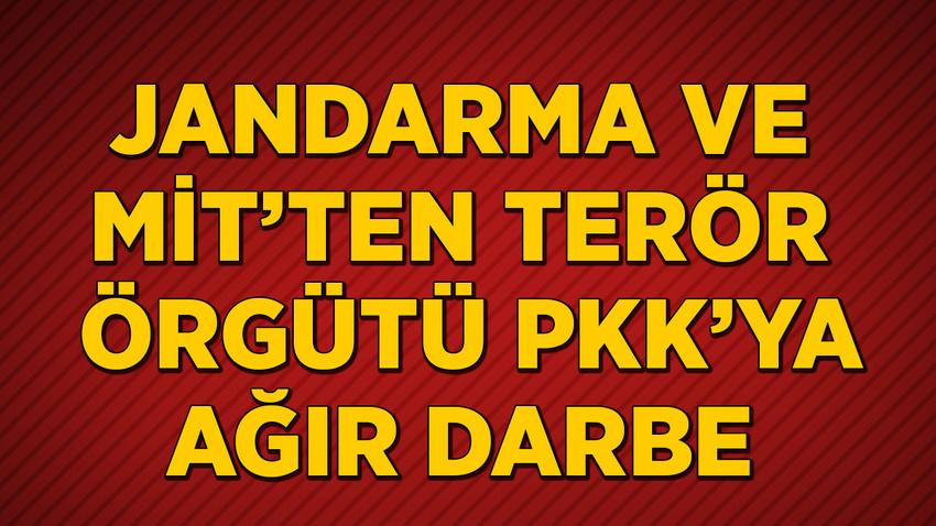 MİT ve jandarmadan terör örgütü PKK'ya ağır darbe