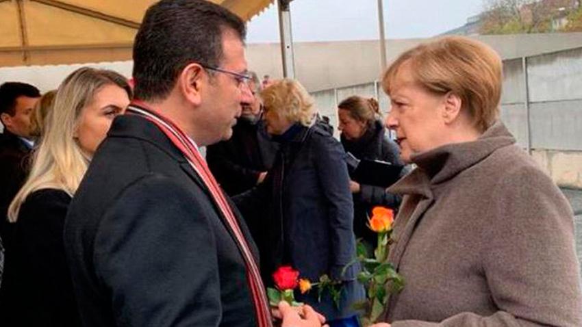 İmamoğlu Berlin'de Almanya lideri Merkel'le sohbet etti
