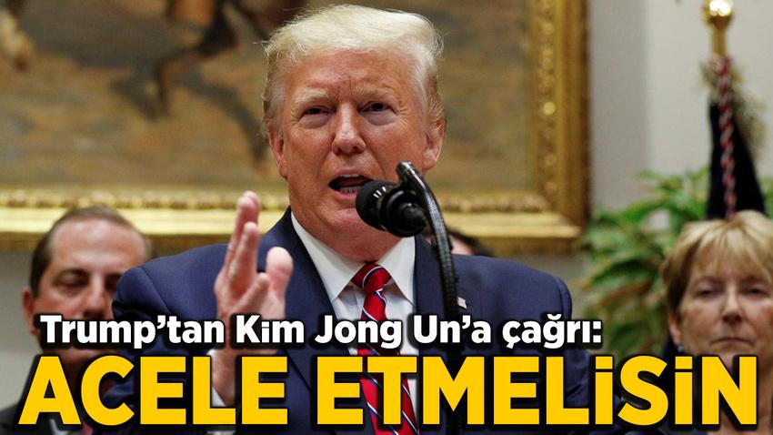 Trump'tan Kim Jong Un'a çağrı: Anlaşma yap