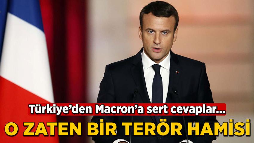 Macron'un skandal sözlerine Türkiye'den çok sert yanıtlar!