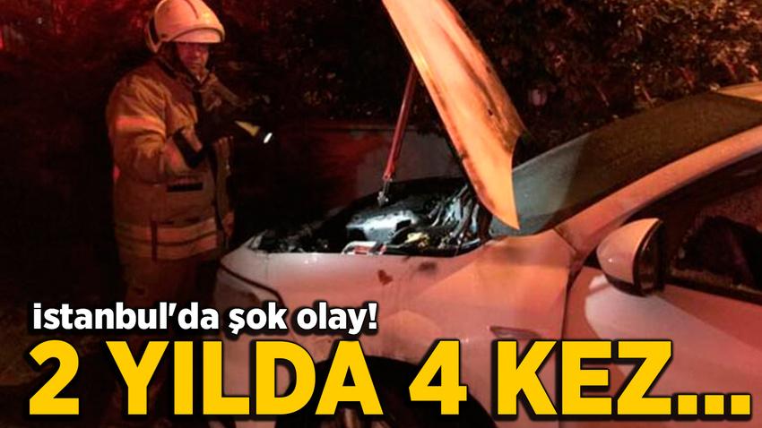 İstanbul'da şok olay! 2 yılda 4 kez aracı kundaklandı