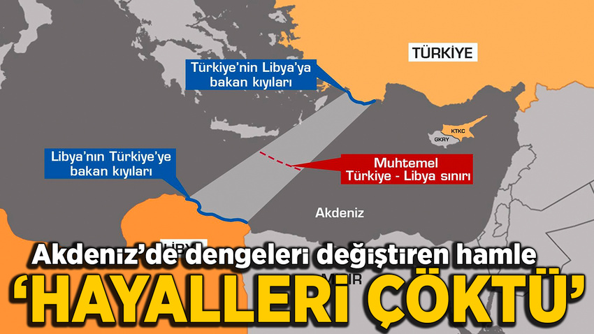 Libya ile yapılan anlaşma Akdeniz'de dengeleri lehimize değiştirdi