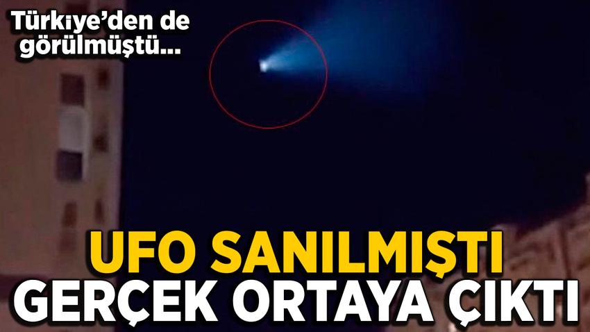 UFO sanılan cisim Rusya'ya ait balistik füze olduğu anlaşıldı