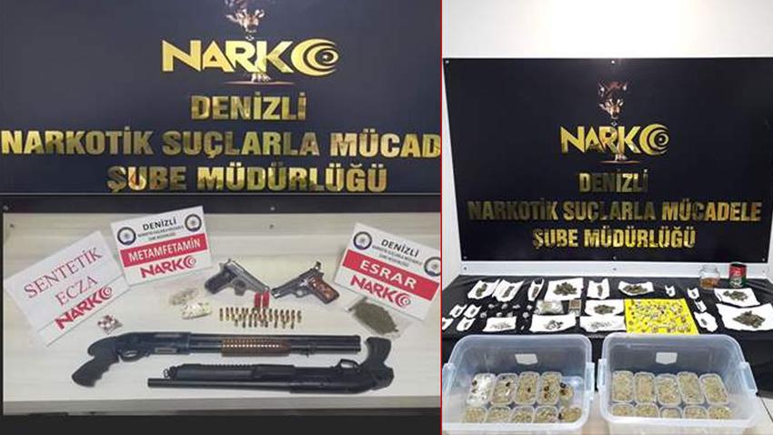 Denizli'de uyuşturucu operasyonunda 19 zanlı tutuklandı