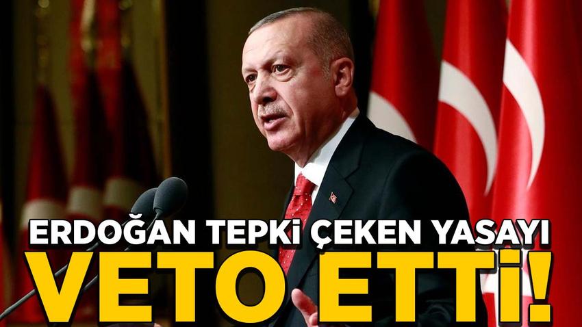 Cumhurbaşkanı Erdoğan 'filtre' düzenlemesini veto etti