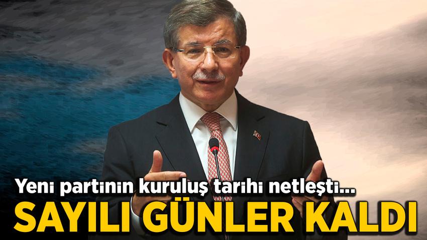Davutoğlu, partisini 16 Aralık'ta kuruyor