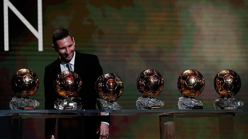 Altın Top ödülü Messi'nin