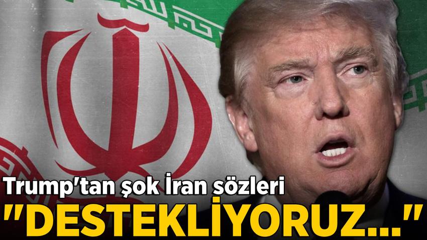 Trump'tan İran'ı kızdıracak sözler: Protestocuları destekliyoruz