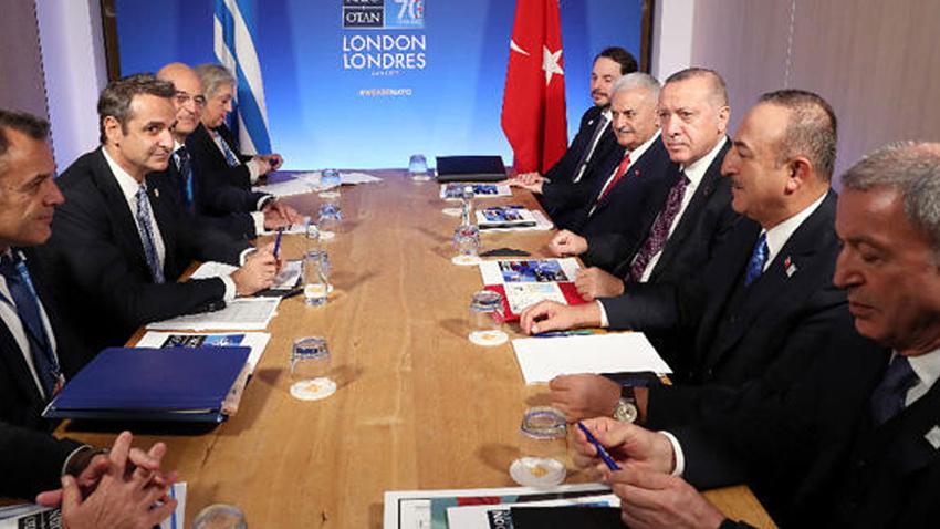 Cumhurbaşkanı Erdoğan, Miçotakis ile görüştü