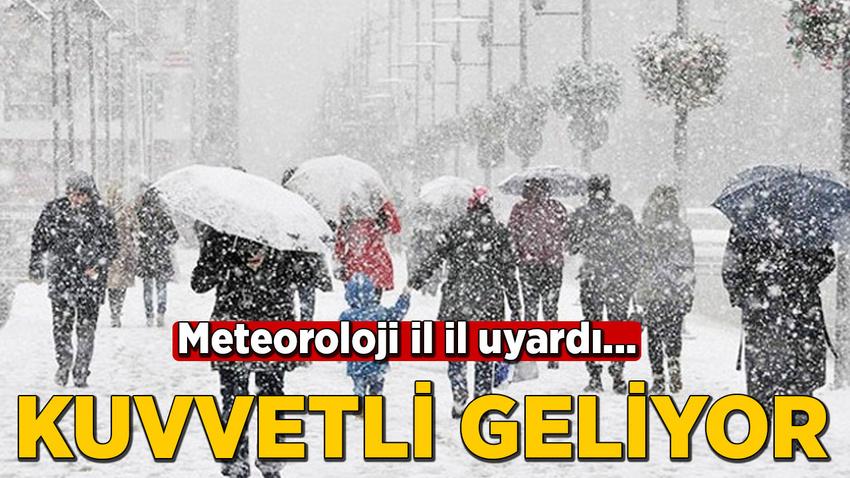 Meteoroloji'den kuvvetli kar, sağanak ve fırtına uyarısı!