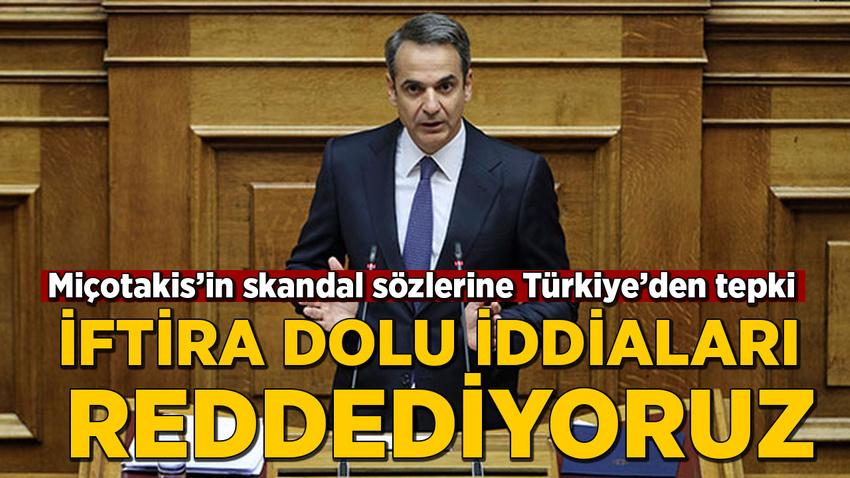 Miçotakis'in skandal sözlerine tepki: İftira dolu iddiaları reddediyoruz