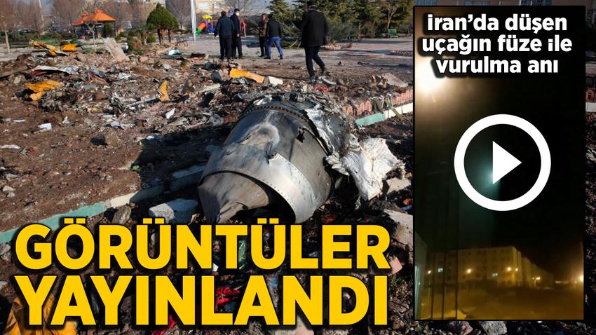 Ukrayna uçağının füze ile vurduğuna dair görüntüler paylaşıldı