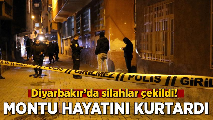 Diyarbakır'da silahlar çekildi! Montu hayatını kurtardı