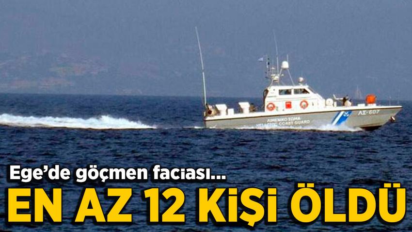 Yunanistan açıklarında göçmen teknesi battı: En az 12 ölü!