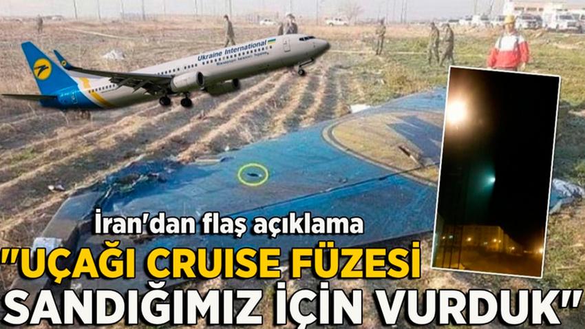 İran: Ukrayna uçağı cruise füzesi sanıldığı için vuruldu