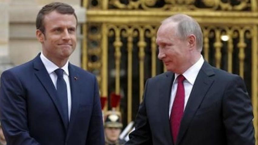Putin, Macron ile Libya krizini görüştü