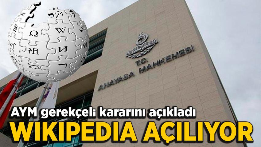 AYM, Wikipedia için gerekçeli kararını açıkladı