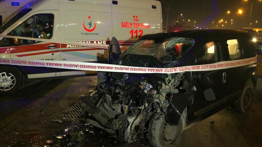Ankara'da kaza: 1 ağır yaralı