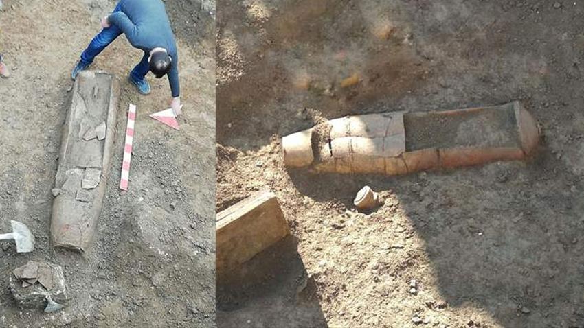 Mersin'deki sondaj kazısında tarihi 6 mezar bulundu