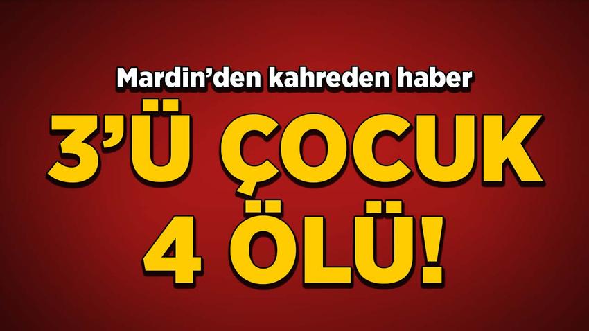 Mardin'den kahreden haber! 3'ü çocuk 4 ölü