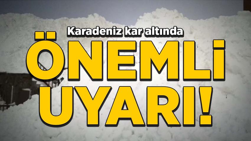 Trabzon Valiliği uyardı: Çığ riski var, yaylalara gitmeyin!