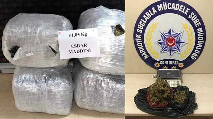 Şanlıurfa'da uyuşturucu operasyonunda 5 tutuklama