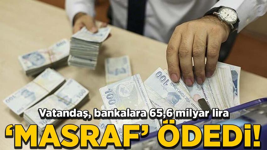 "Vatandaş, bankalara 65,6 milyar lira ""masraf"" ödedi"