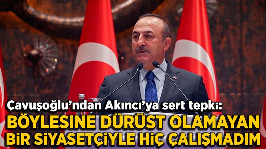 Bakan Çavuşoğlu'dan Mustafa Akıncı'ya tepki