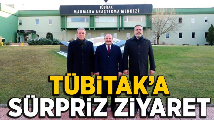 Hulusi Akar, Mustafa Varank ve Hakan Fidan'dan TÜBİTAK'a sürpriz ziyaret