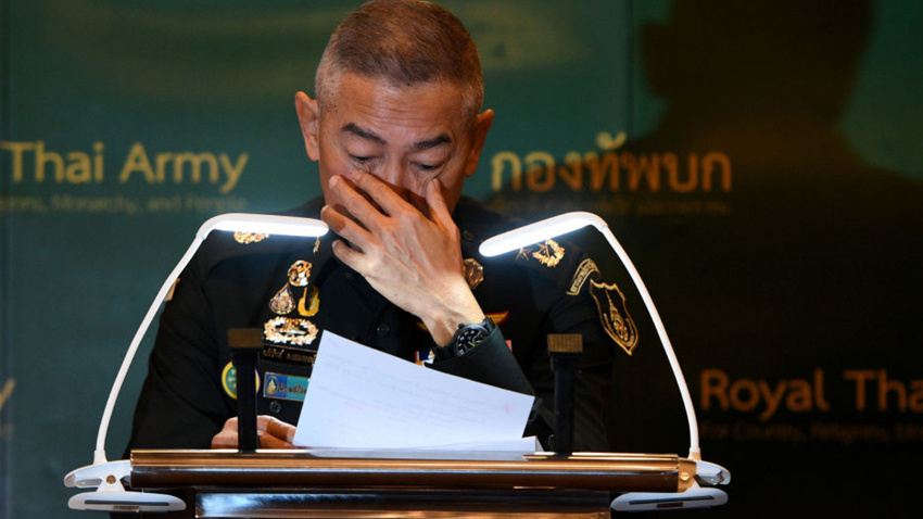 Asker 29 kişiyi öldürmüştü: Tayland Genelkurmay Başkanı ağladı...