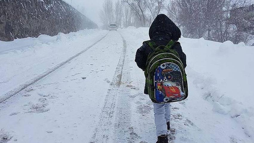 Birçok ilde eğitime kar engeli!