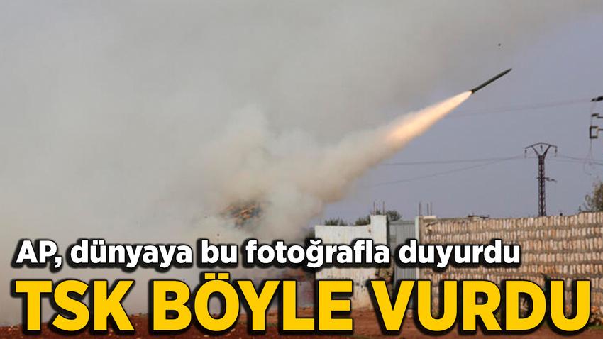 AP fotoğrafı dünyaya geçti! Türk ordusu böyle vurdu