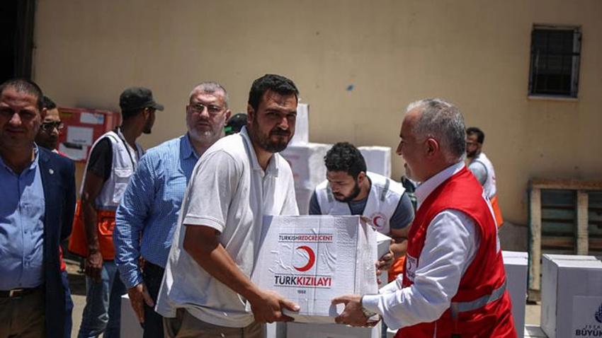 Türk Kızılayından Gazze'ye gıda yardımı
