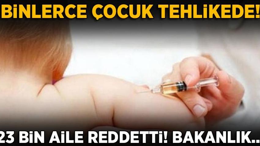 23 bin aile aşıyı reddetti: Aşılama olmazsa yılda 14 bin çocuk ölebilir