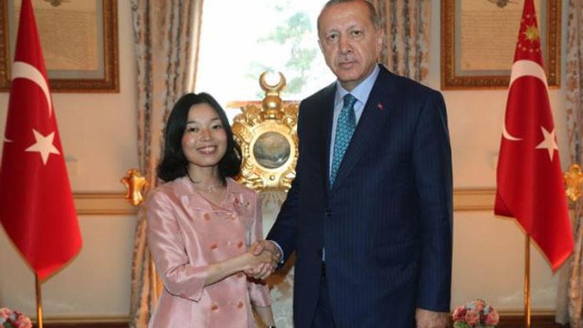 Başkan Erdoğan, Japonya Prensesi ile görüştü