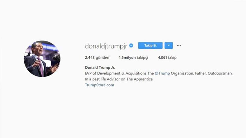 Trump'ın oğlundan skandal paylaşım